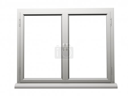 :Two frame plastic window isolated