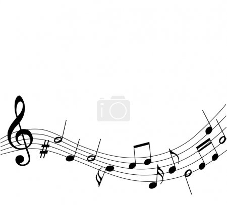 Background music notes