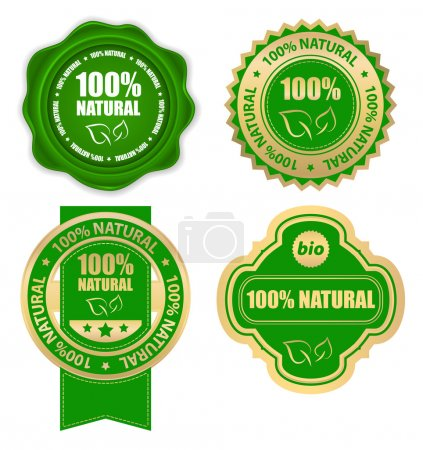 Natural 100 percent - design elements...