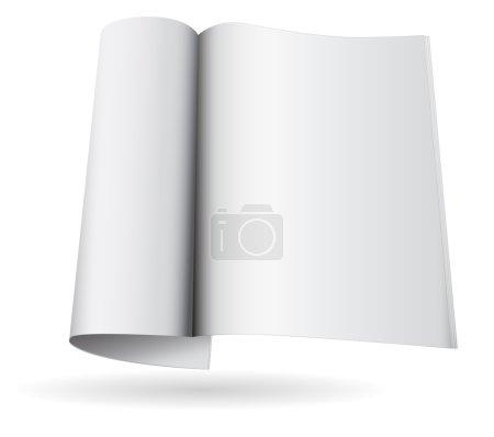 magazine blank icon template 3d