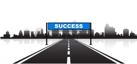 road to success 3d background