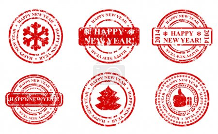 new year seal stamp icon
