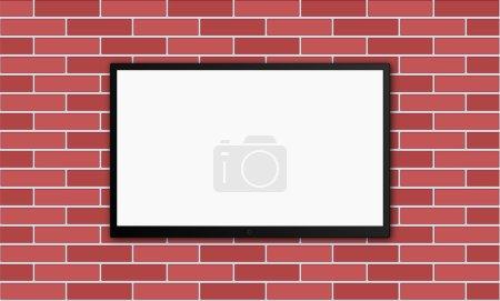 flat modern plasm tv on brick wall