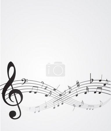 Illustration pour Notes abstraites de musique de fond - image libre de droit