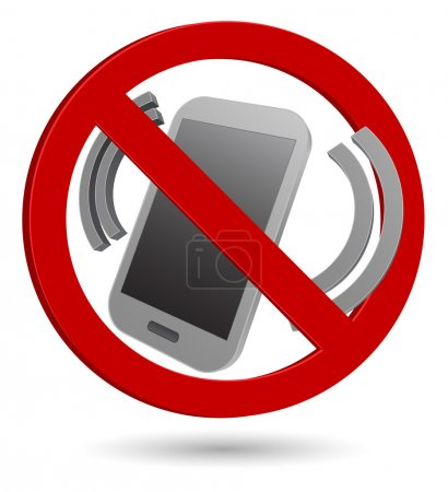 no phone 3d sign