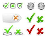 checkmark 3d icon set