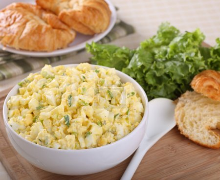 Photo for Egg salad in a bowl for making sandwiches - Royalty Free Image