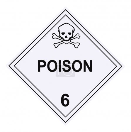 Poison Warning Placard