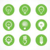 Set of electric bulb symbols