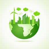 """Постер, картина, фотообои """"Экология концепции - сохранить земли"""""""