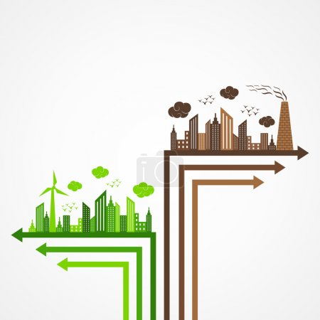 Illustration for Ecology and pollution concept vector illustration - Royalty Free Image