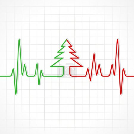 Heartbeat make christmas tree