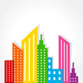 Abstract colorful buildings