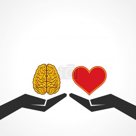 Illustration for Illustration of compare life and knowledge concept - Royalty Free Image