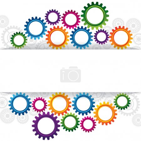 Illustration for Abstract web design with copy space in cog wheel - Royalty Free Image