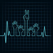 Heartbeat make helping and victory
