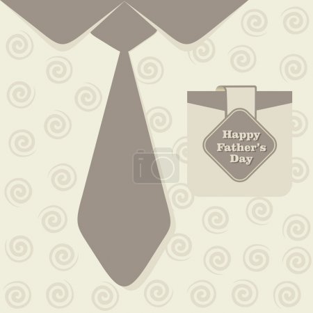 Illustration for Happy Fathers Day greeting card design stock vector - Royalty Free Image