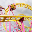 Colorful entertainment rollercoaster at Southend-o...