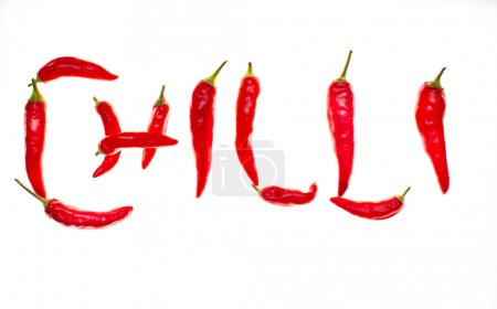 'Chilli' spelt with chilli peppers