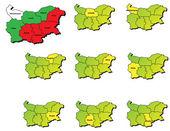 Bulgaria provinces maps