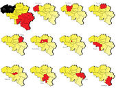 Belgium provinces maps