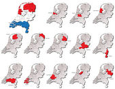 Netherlands provinces maps