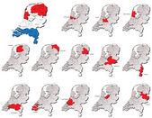 Netherlands provinces maps