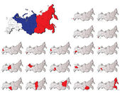 Russia provinces maps