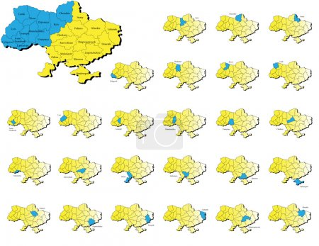 Ukraine provinces maps