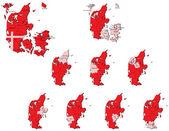 Dänemark Provinzen Karten
