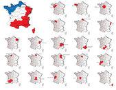 France provinces maps