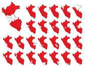 Peru provinces maps