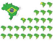 A set of brazil provinces maps