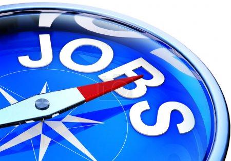 Photo pour 3D illustration d'une icône d'emplois - image libre de droit