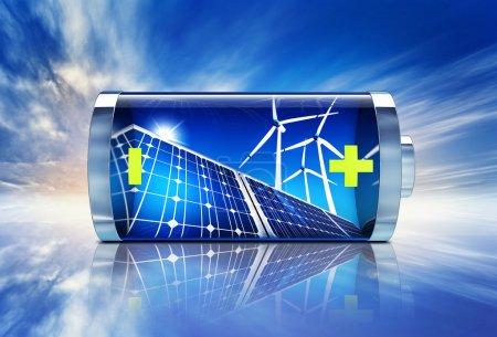 Foto de Representación en alta resolución de un concepto de energía verde - Imagen libre de derechos
