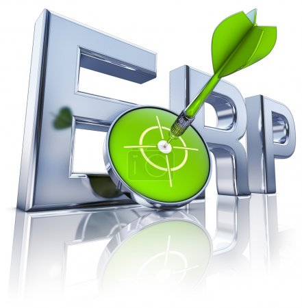 Photo for High resolution rendering of a ERP icon - Royalty Free Image