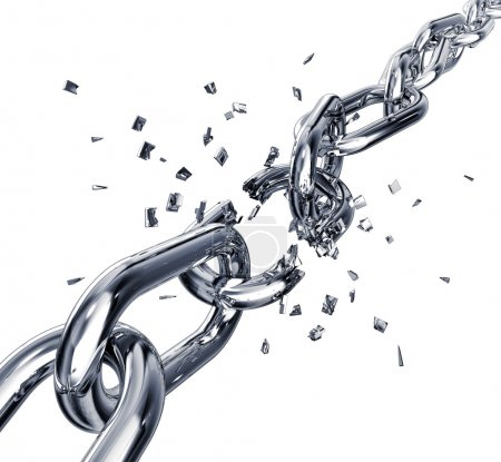 Photo for 3D rendering of a broken chain - Royalty Free Image