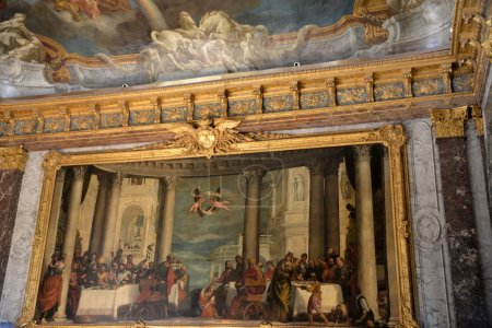 Photo for The  painted interior of rooms at the palace of Versailles - Royalty Free Image