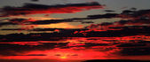 Panoramic view of fire in the sky