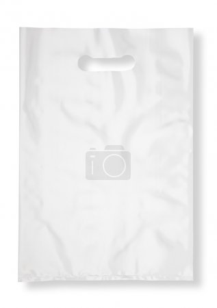 Photo for Plastic bag on white with shadow (with clipping path) - Royalty Free Image