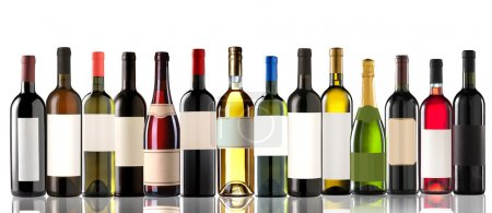 Photo for Group of several bottles on white - Royalty Free Image