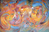 """Постер, картина, фотообои """"абстрактная второстепенная живопись"""""""