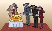 Sharks and cake