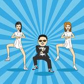 Caricature of gangnam dance