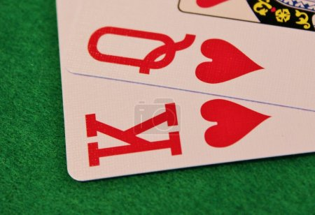 King Queen of hearts - Stock Image