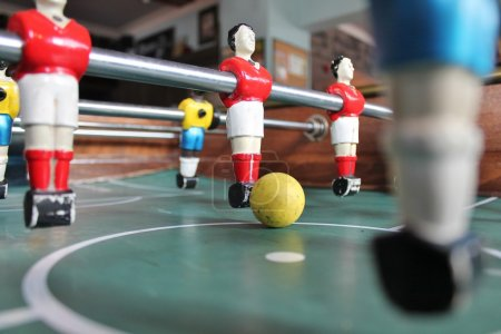 Foosball football in team colors Soccer Brazil shirts Table top