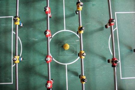 Foosball football in team colors Soccer Brazil shirts Tabletop