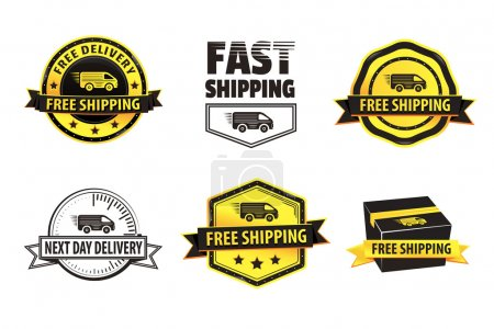 Yellow Free Shipping Badges
