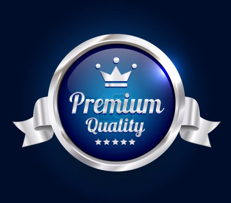 Silver Premium high quality guarantee badge.