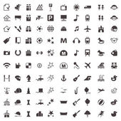 Vector icons of games entertainment recreation zoo and othe
